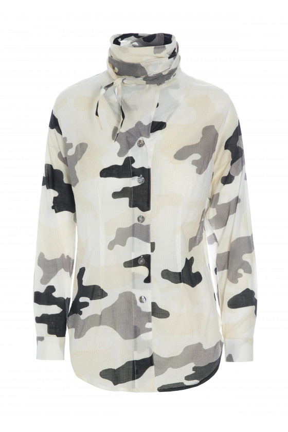 SHOWPIECE CLOUDY CAMOUFLAGE BLUSE
