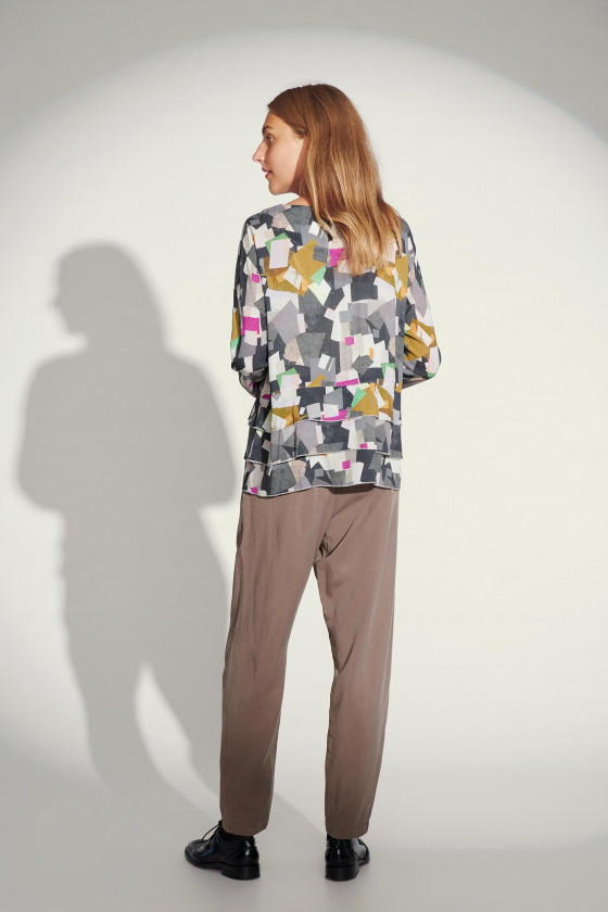 CUBIST COMPOSITION BLUS