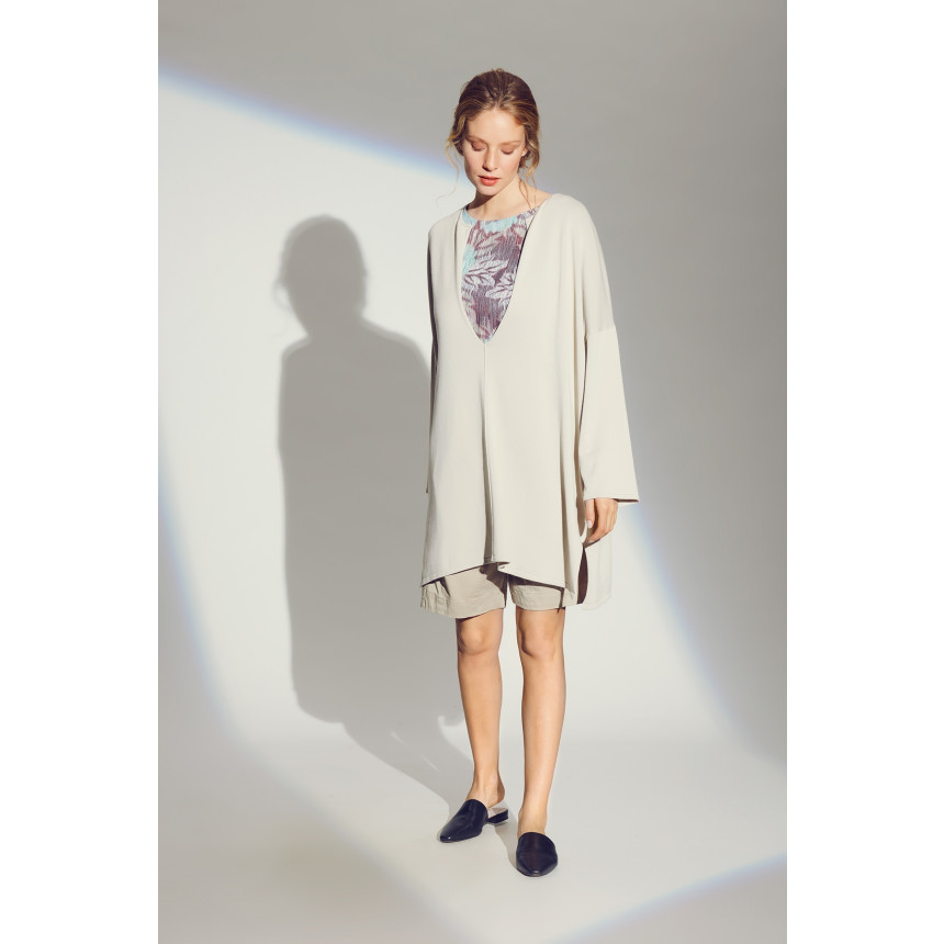 BLOOM KNIT V-NECK TUNIC