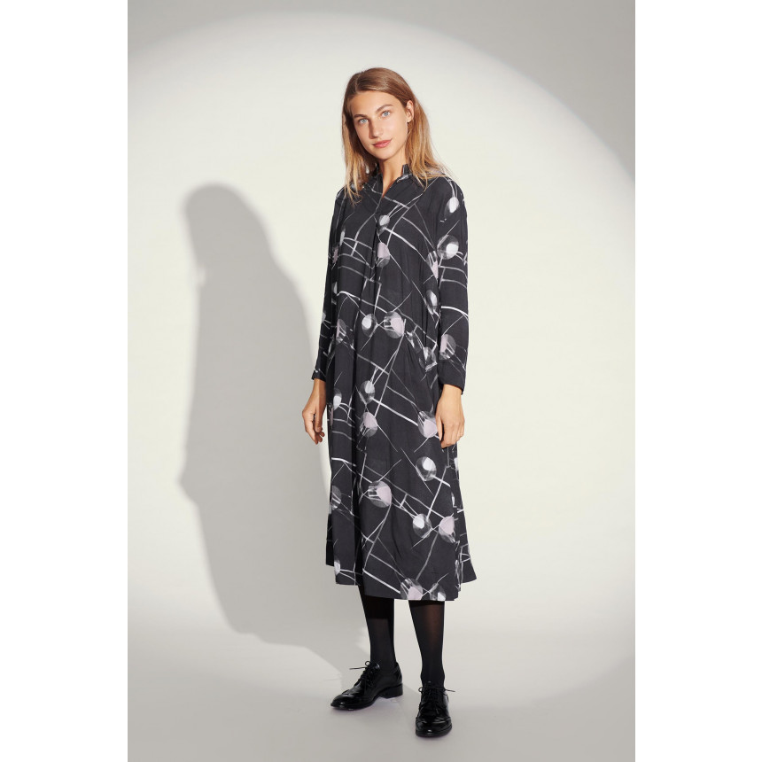 SPOT & RAY OF LIGHT DRESS WITH COLLAR