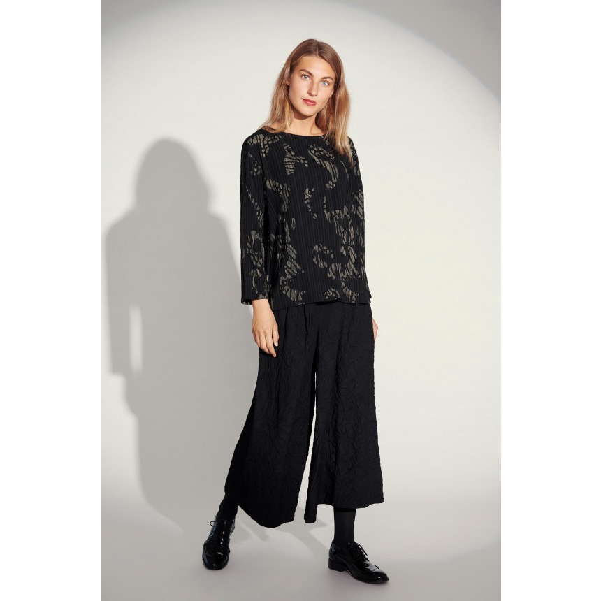 CREASED COTTON MIX PANTS
