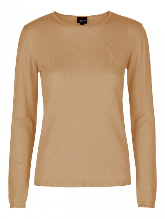 NEW WOOL BLOUSE WITH ROUND NECK