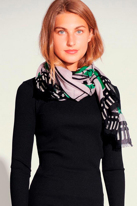 GRID DOT SCARF