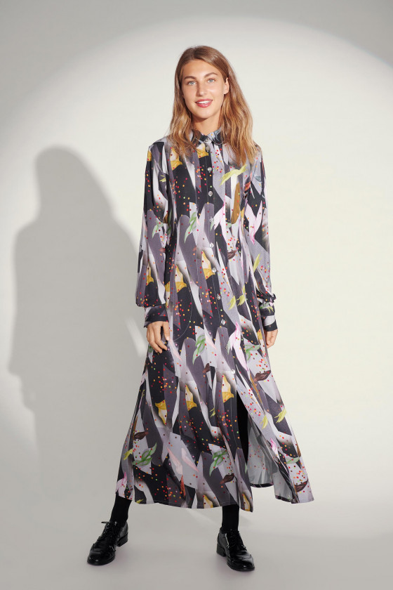 CONFETTI COLLAGE LONG DRESS
