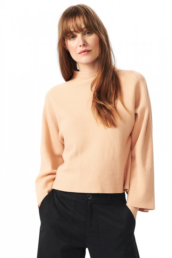 PAMPAS COTTON TURTLENECK BLOUSE