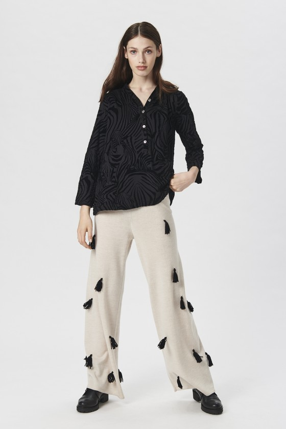 ZEBRA FLOCK BLOUSE