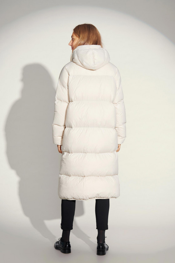FEATHER DOWN COAT WITH HOOD