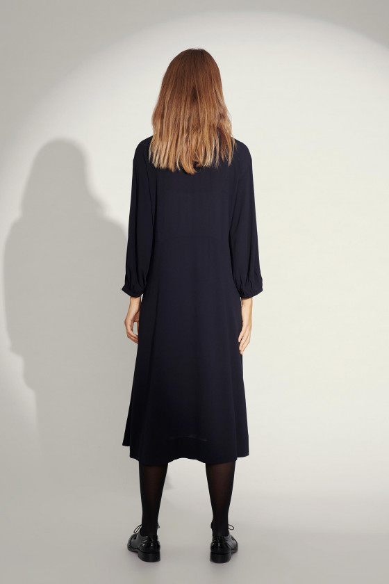 ETHER ECOVERO 3/4 SLEEVE DRESS