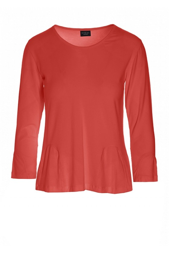 ATLAS JERSEY BLOUSE WITH V-NECK
