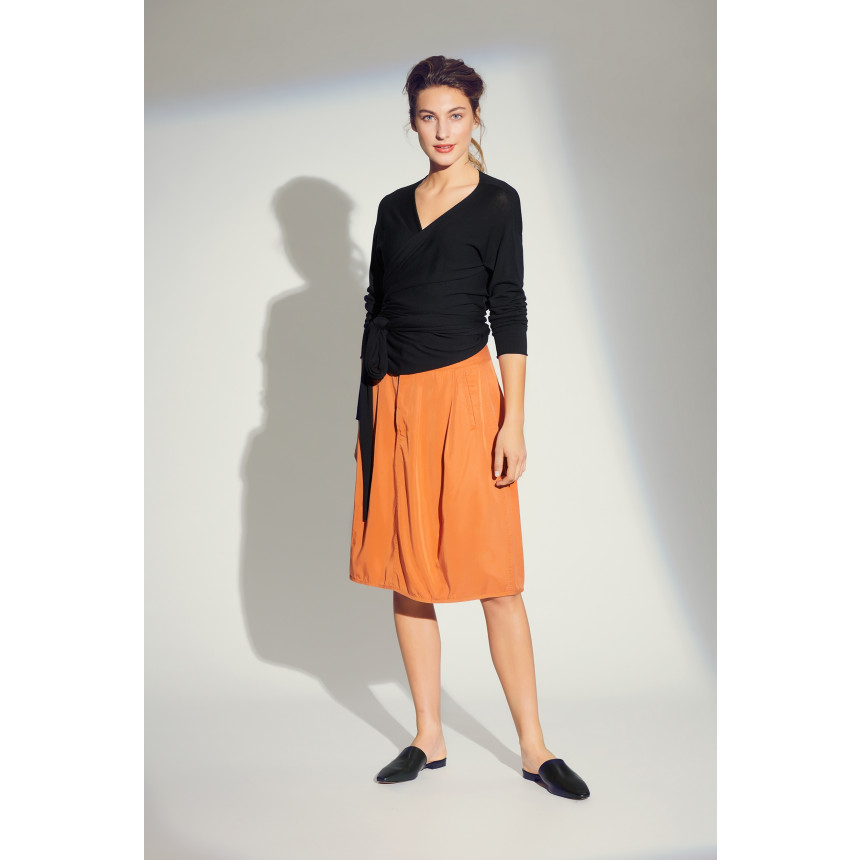 DRAPY TWILL SKIRT
