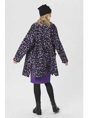 LEOPARD WOOL COAT