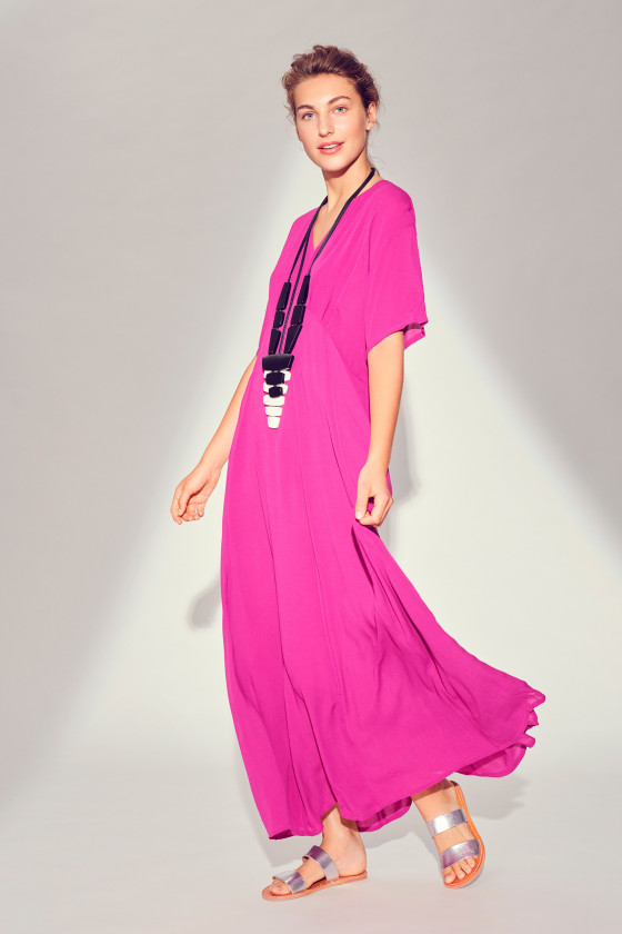 CREPON VISCOSE LONG DRESS