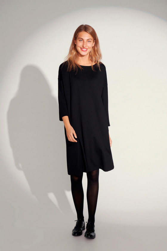 FUYU JERSEY 3/4 SLEEVE DRESS