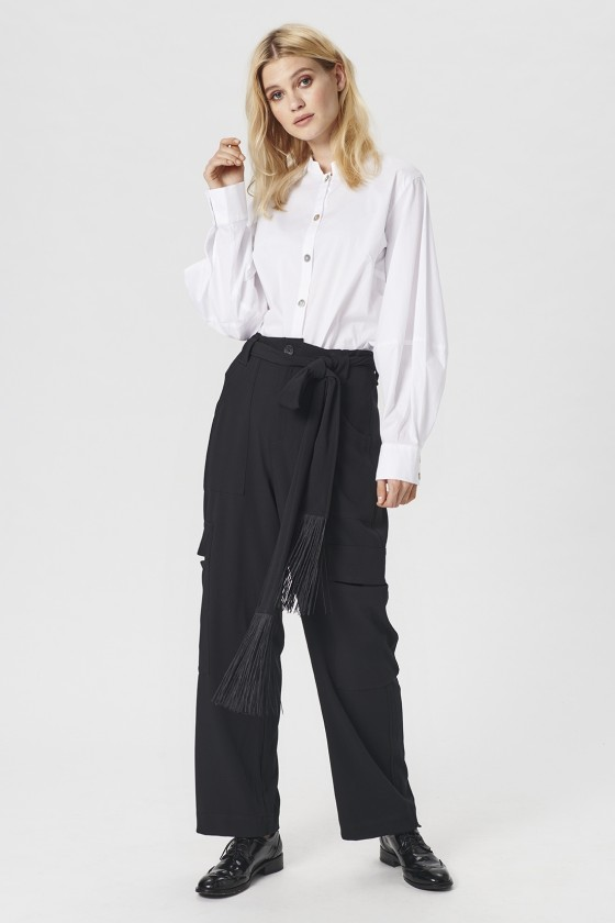 TOKYO TWILL TROUSERS WITH BELT