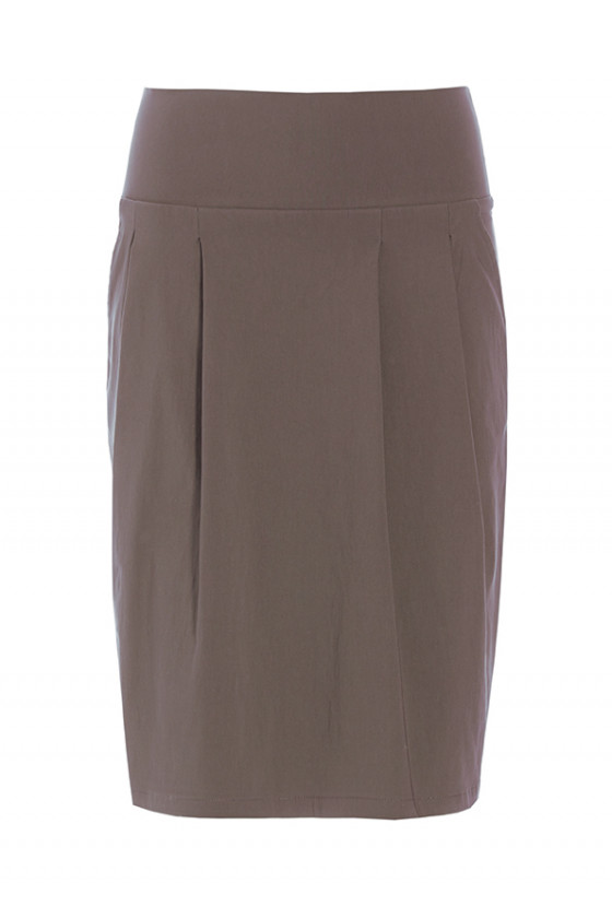 MAGIC STRETCH SKIRT WITH PLEATS