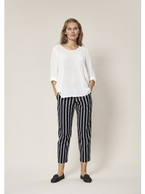 STRIPEY STRETCH PANTS