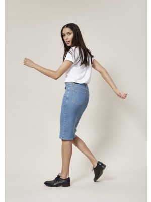SEA SIDE DENIM JEANS SKIRT