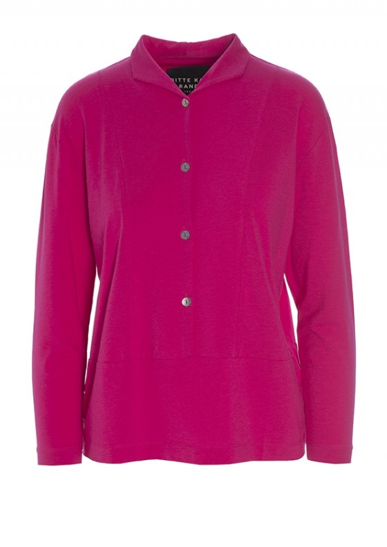 ATLAS JERSEY BLOUSE WITH BUTTONS