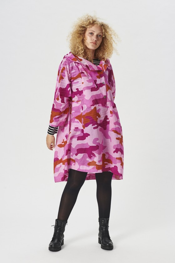 CLOUDY CAMOUFLAGE ANORAK BLOUSE