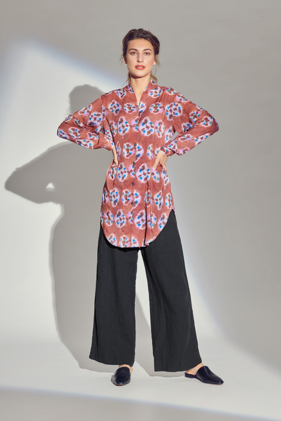 SPECKLE SHIBORI SHIRT TUNIC