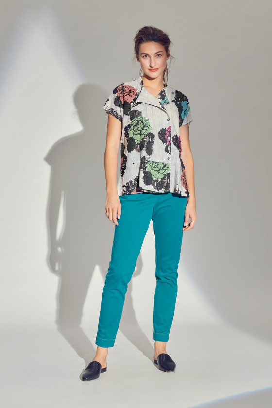 SEA OF ROSES BLOUSE