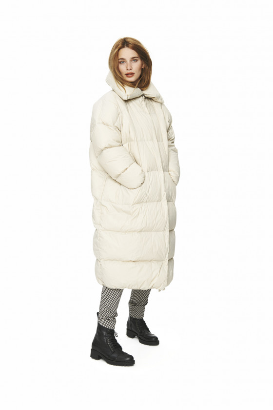 FEATHER DOWN LONG COAT