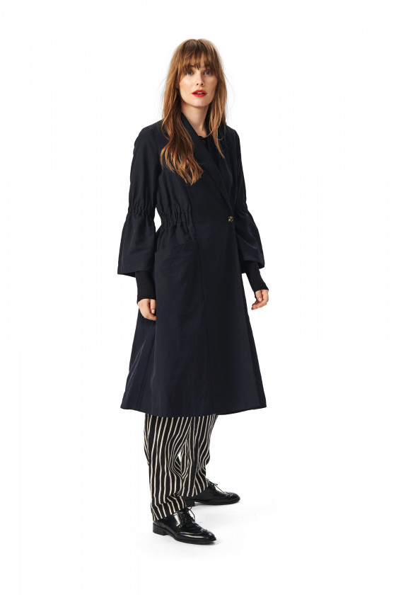 TENKI TAFFETA LONG JACKET