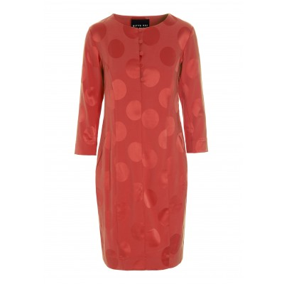 SPOT JACQUARD DRESS WITH BUTTONS