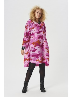 CLOUDY CAMOUFLAGE ANORAK BLUSE