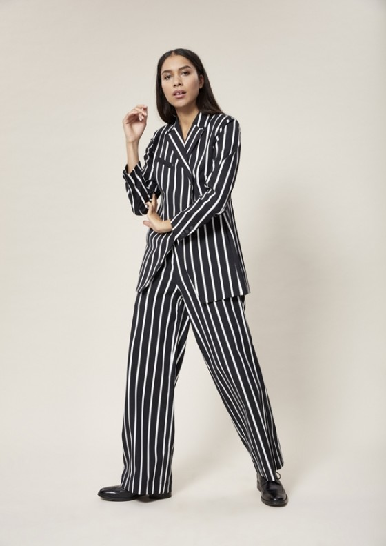 STRIPEY STRETCH BLAZER JAKKE