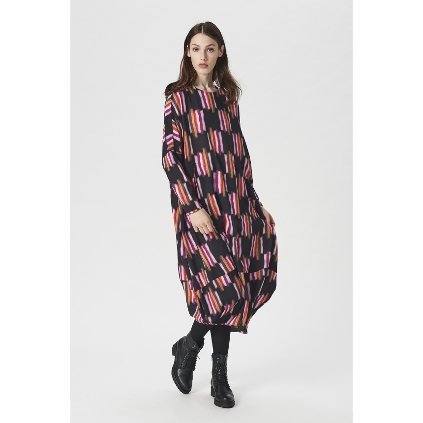 FURRY CHECK LANGES KLEID