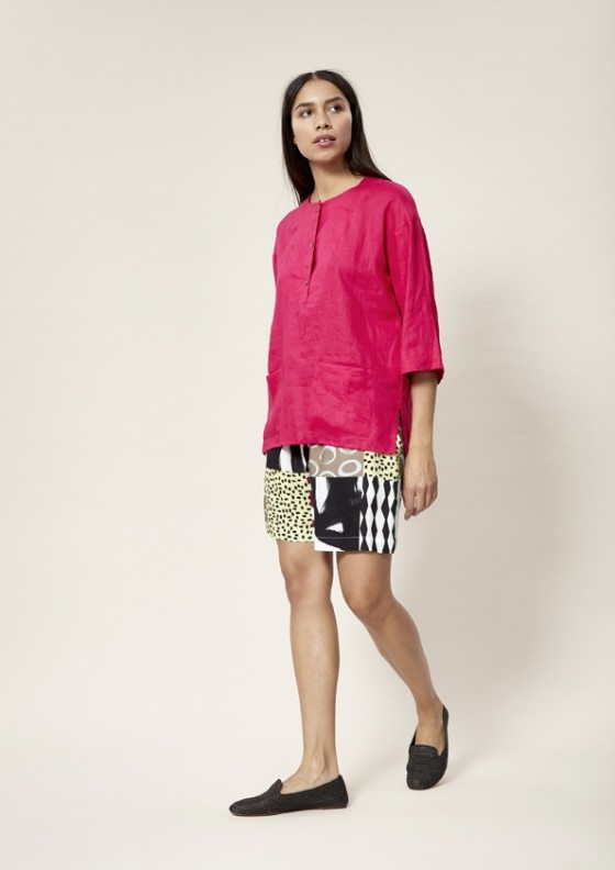 AIRY LINEN BLUSE