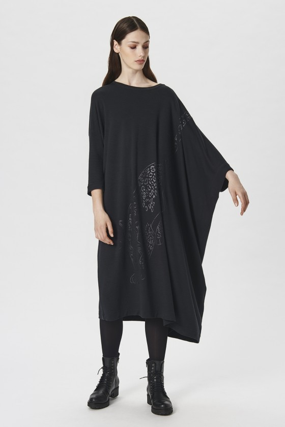 OSAKA WOOL JERSEY LANGES KLEID