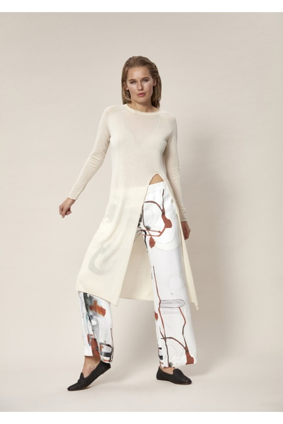 WATERCOLOR PLAY HOSE MIT ELASTICHEM TAILLE