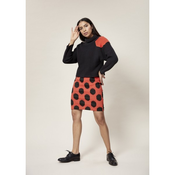 DOT JACQUARD SKIRT A LENGTH