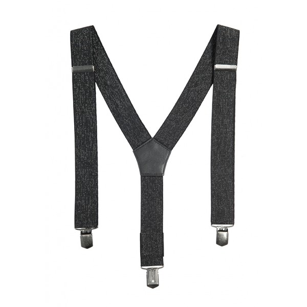 SILVER STRETCH SUSPENDERS