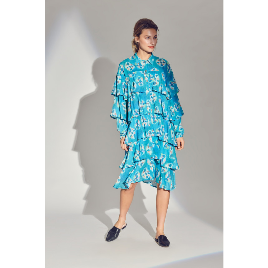 SPECKLE SHIBORI DRESS