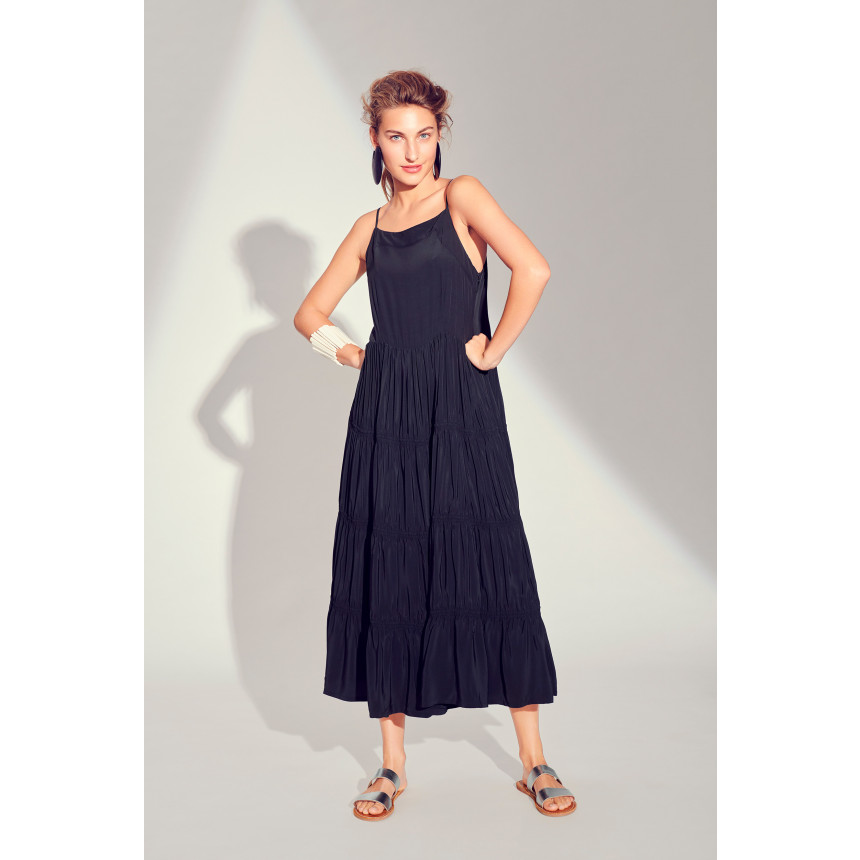 WHIRLING VISCOSE DRESS