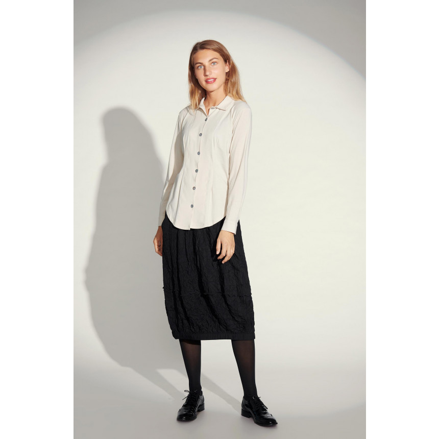 CREASED COTTON MIX SKIRT