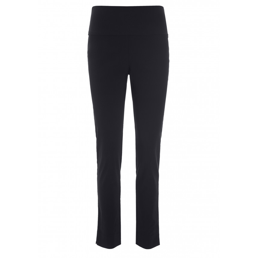 MAGIC STRETCH TROUSERS WITH SLITS B LENGTH