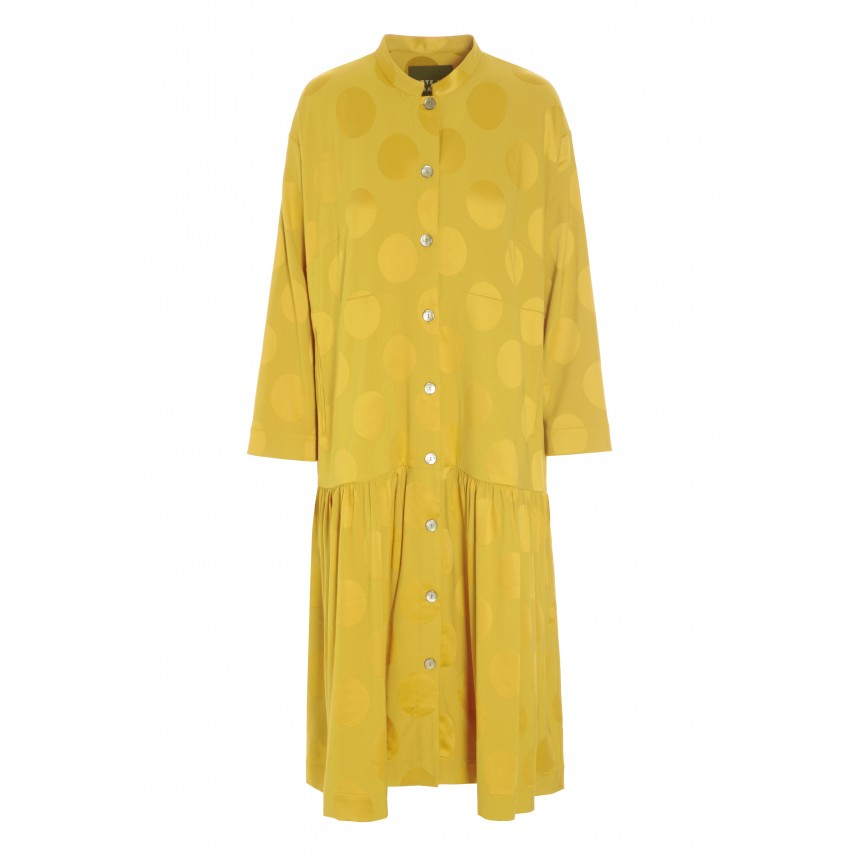 SPOT JACQUARD SHIRT DRESS
