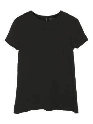 BLACK PROFILES VISCOSE BLOUSE
