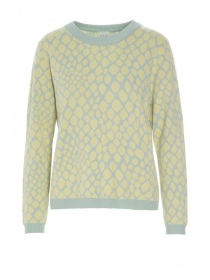 ATLANTIC KNIT JACQUARD PULLOVER