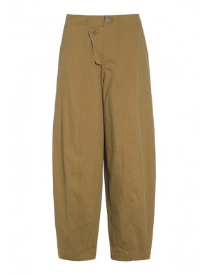 CHINLON COTTON TROUSERS WITH BUTTONS.