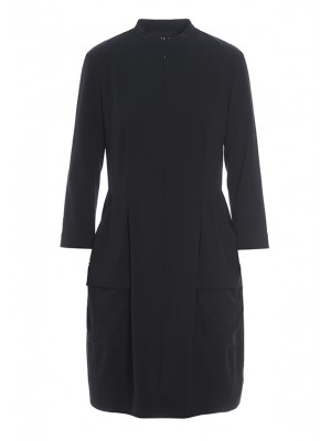 COMMANDER CREPE ZIP DRESS