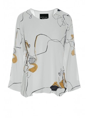 FLOWER SCRIBBLES BLOUSE
