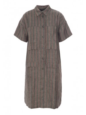 MINERAL LINEN STRIPE DRESS