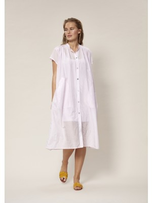 SHADOW SILK SHIRT DRESS
