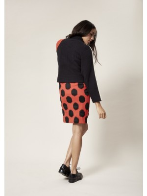DOT JACQUARD SKIRT B LENGTH