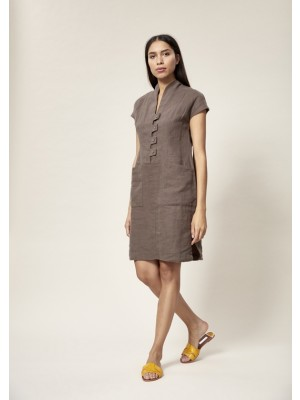 LAZY LINEN NARROW DRESS